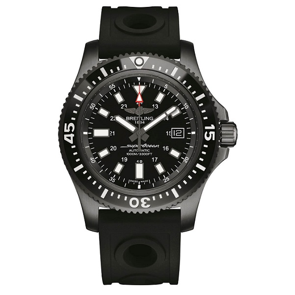 Breitling's Avenger Hurricane 45 replica watch uses dense composites to stay light!