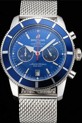Blue Dial Breitling Superocean Heritage Replica Review