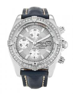Silver Baton Dial Breitling Chronomat Evolution Replica