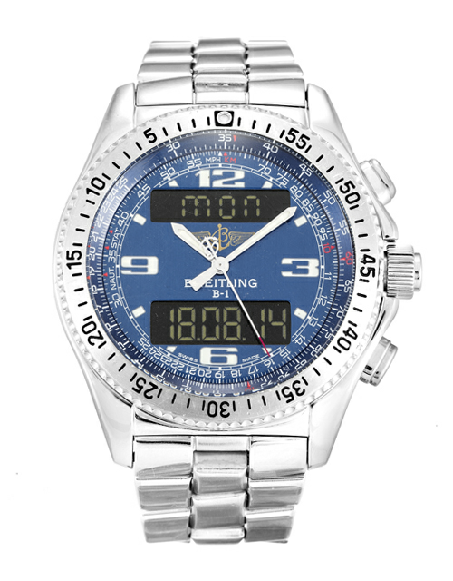 Blue Dial Breitling BI A68362 Replica Review