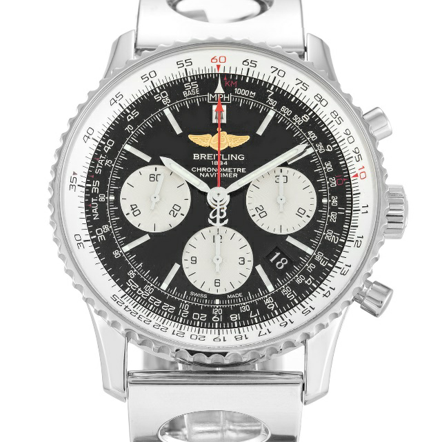 Black Baton Dial Breitling Navitimer Replica Review