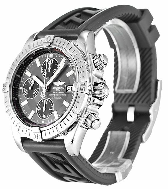 Grey Dial Breitling Chronomat Evolution A13356 Replica Review