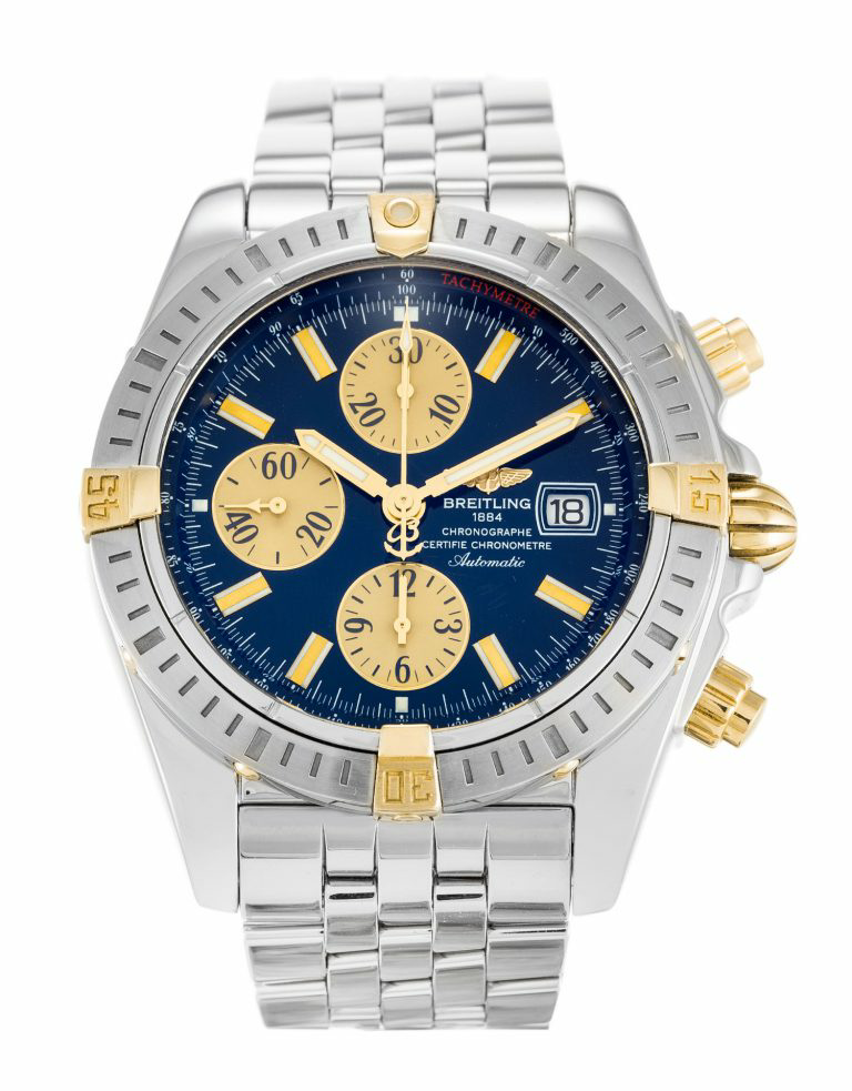 Blue Dial Breitling Chronomat Evolution Replica