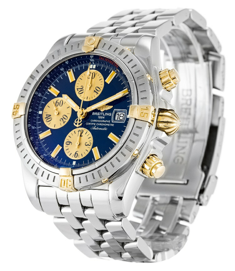 Blue Dial Breitling Chronomat Evolution Replica Review