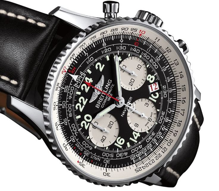 Black Dial Breitling Cosmonaute Replica Watch