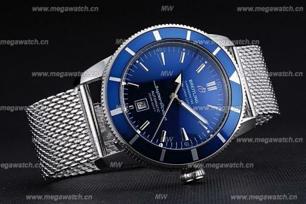 Breitling Certifie SuperOcean Blue Dial Blue Fake Watch