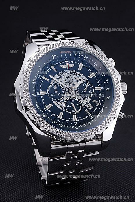Black Dial Stainless Steel Bracelet 622520 Fake Breitling Bentley watch