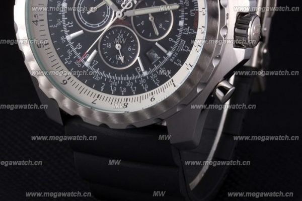 Black Rubber Band Fake Breitling Bentley watch Review