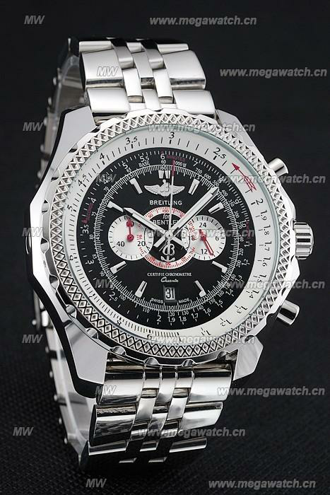 Breitling Bentley Chronograph Stainless Steel Strap 98192 Watch