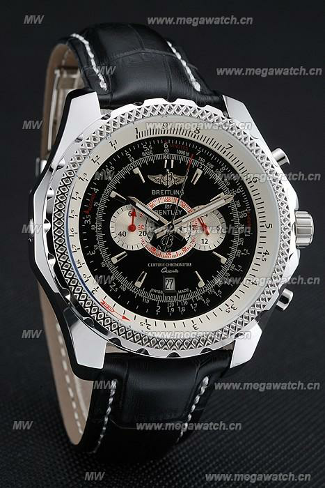 Breitling Bentley Chronograph Black Dial Fake Watch