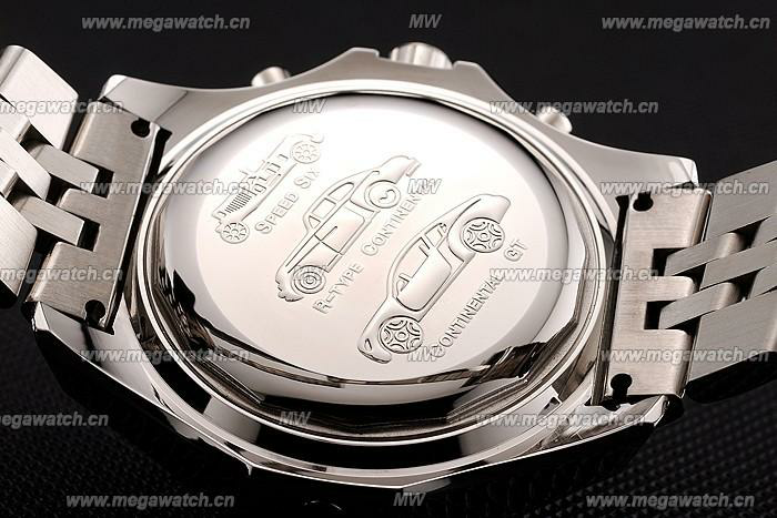 Silver Stainless Steel Band Kinetic Watch 4155 Fake Breitling